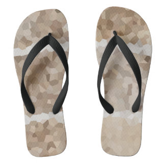 Tan Geometric Flip Flops