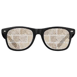 Tan Geometric Retro Sunglasses