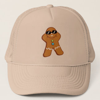 """Tan Gingerbread Man"" Khaki Foam Trucker Hat"