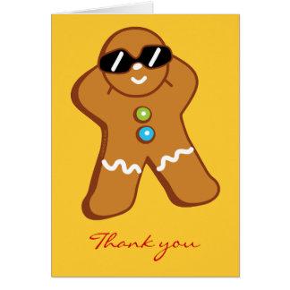 Tan Gingerbread Man Thank You Card Greeting Cards