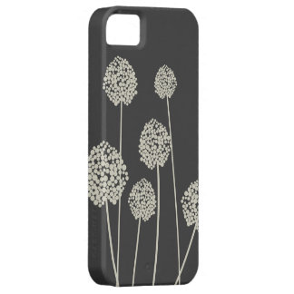 TAN/GRAY STRANGE FLOWERS iPhone Case iPhone 5 Cover