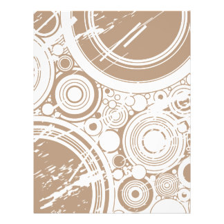 Tan Grunge Circles Vector Art Personalized Flyer