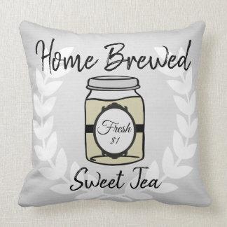 Tan Home Brewed Sweet Tea Pillow