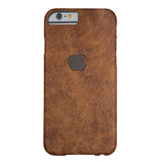Tan leather apple stitch logo rustic iphone case