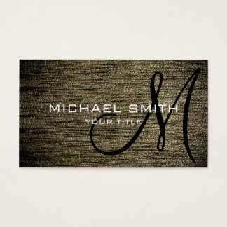 Tan leather business card