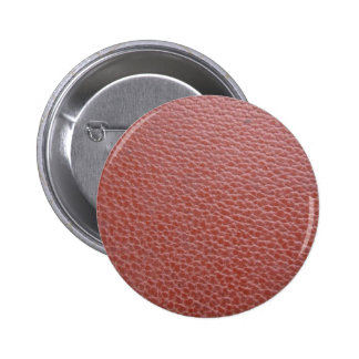 Tan Leather Finish : Add Greeting Text or Image 6 Cm Round Badge