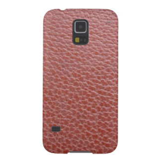Tan Leather Finish : Add Greeting Text or Image Galaxy S5 Case