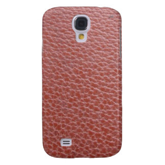 Tan Leather Finish : Add Greeting Text or Image Galaxy S4 Case