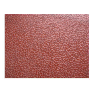 Tan Leather Finish : Add Greeting Text or Image Postcard