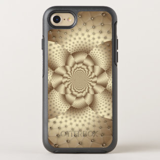Tan Leather Flower Optical Illusion OtterBox Symmetry iPhone 7 Case