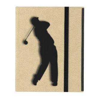 Tan Leather Golf iPad Folio Cover