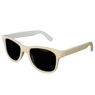 Tan Leather Look Sunglasses