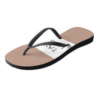 Tan Line Flip Flops