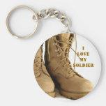 tan military boots keyhain keychains