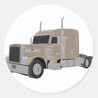 tan peter built truck stickers