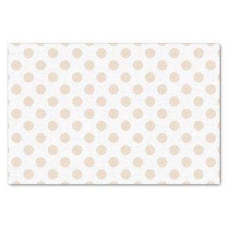 Tan polka dots tissue paper