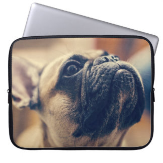 Tan Pug  Chin Up Laptop Sleeve