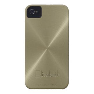 Tan Stainless Steel Metal Look iPhone 4 Case