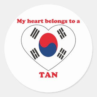 Tan Stickers