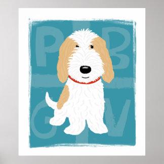Tan & White PBGV Print