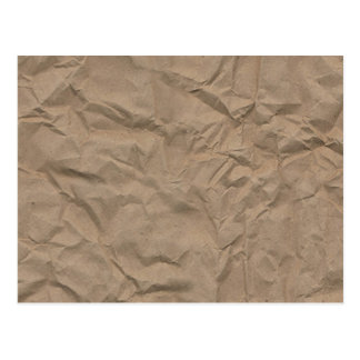 Tan Wrinkled Paper Texture Postcard