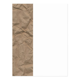 Tan Wrinkled Paper Texture Postcard