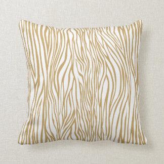 Tan Zebra Animal Print Cushion