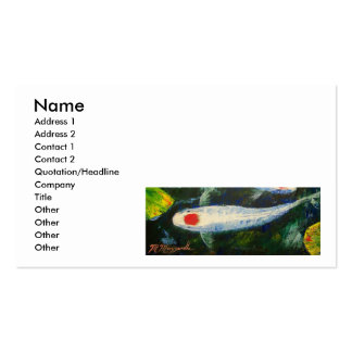 Tancho Kohaku Koi Business Cards