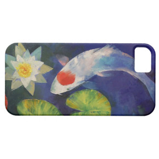 Tancho Koi and Water Lily iPhone 5 Cover
