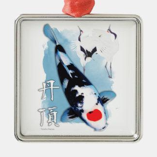 Tancho koi christmas ornament