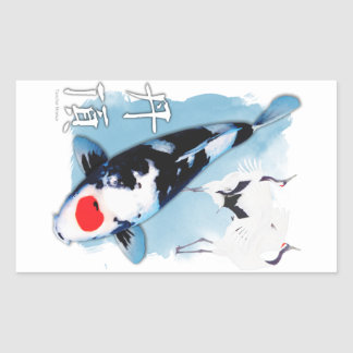 Tancho koi rectangular sticker