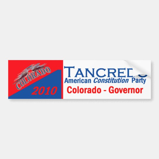 TANCREDO 2010 Bumper Sticker