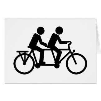 Tandem Bicycle bike Greeting Cards