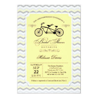Bicycle invitations announcements zazzle uk tandem bicycle bridal shower invitation filmwisefo