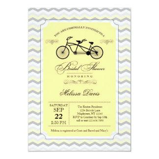 Tandem Bicycle Bridal Shower Invitation