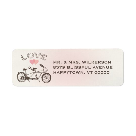 Tandem Bicycle Love Label