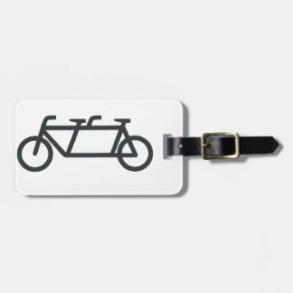Tandem Bicycle Luggage Tag