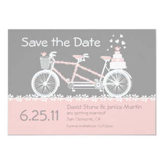 Tandem Bicycle Save The Date Announcement