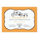 Tandem Bicycle Unisex Baby Shower Invitation