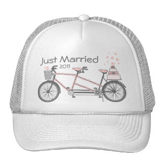 Tandem Bicycle Wedding Personalized Hat