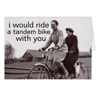 tandem bike note card