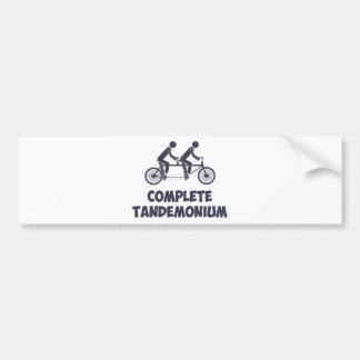 Tandem Bike Complete Tandemonium Bumper Stickers