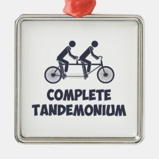 Tandem Bike Complete Tandemonium Christmas Tree Ornaments