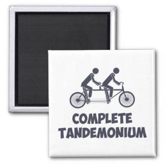 Tandem Bike Complete Tandemonium Refrigerator Magnet
