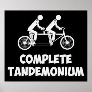 Tandem Bike Complete Tandemonium Poster