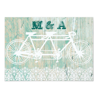Tandem bike, WEDDING invitation