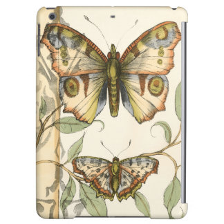 Tandem Butterflies Over Green Leaves Cover For iPad Air