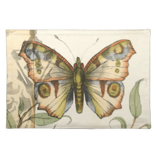 Tandem Butterflies Over Green Leaves Placemat