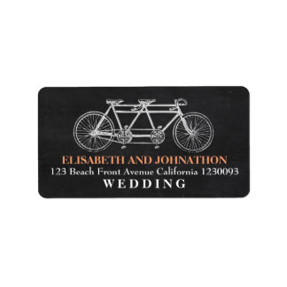 Tandem Chalkboard Wedding Address Label