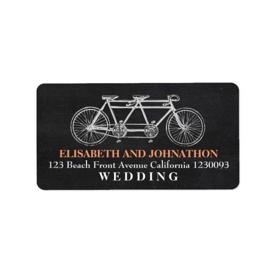 Tandem Chalkboard Wedding Label